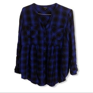 Like new Torrid flannel size 0